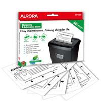 Aurora SP1000 Shredder Sharpening and Lubrication Sheets (Pack of 12)