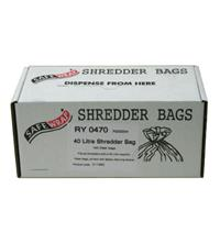 Safewrap 40 Litre Shredder Bags (Pack of 100)